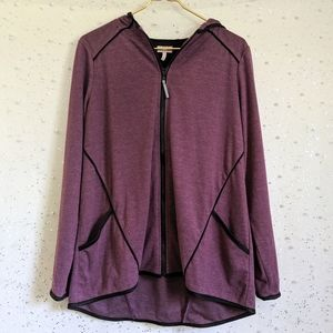 LOGO Lori Goldstein Lotus Purple Hoodie Jacket M